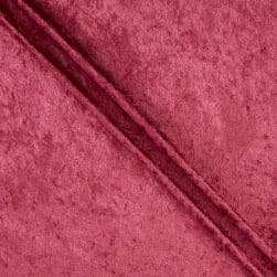 Stretch Panne Velvet Velour Burgundy