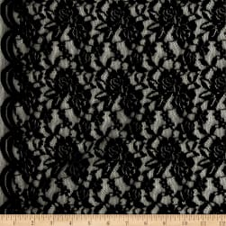 Telio Florence Lace Black Fabric