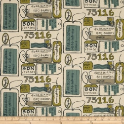 Premier Prints Air Mail Felix/Natural Fabric