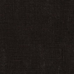 Medium Weight 100% European Linen Black Fabric
