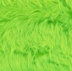 Shannon Faux Fur Luxury Shag Lime Fabric
