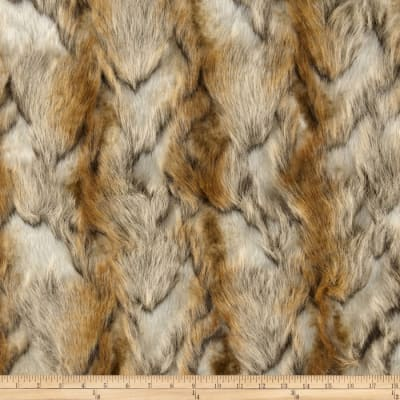 Faux Fur Brandy Fox Gold