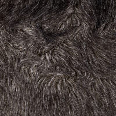 Faux Fur Fox Charcoal