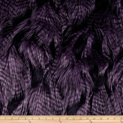 Shannon Lux Fur Fancy Feather Violet