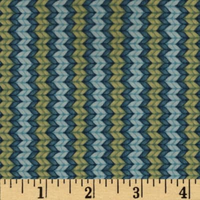 Snow Show Narrow Knitted Lt.Blue/Green