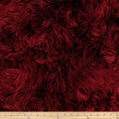 Shannon Faux Fur Luxury Shag Maroon