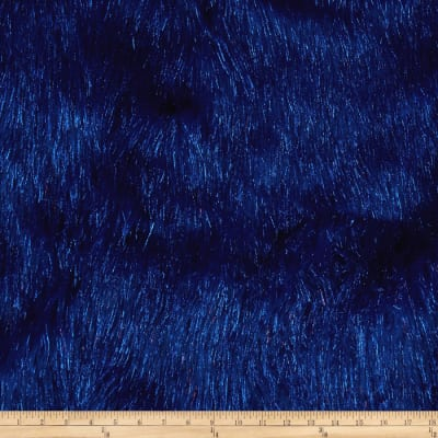 Faux Fur Electric Shag Royal Blue