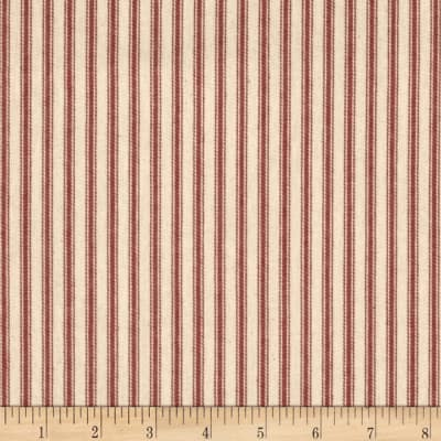 "44"" Ticking Stripe Red Canvas"