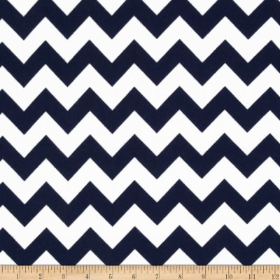 Riley Blake Medium Chevron Flannel Navy