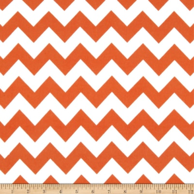 Riley Blake Medium Chevron Flannel Orange