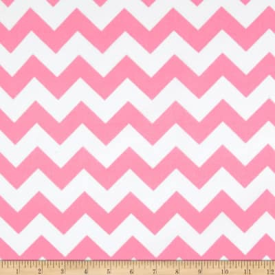 Riley Blake Medium Chevron Flannel Baby Pink