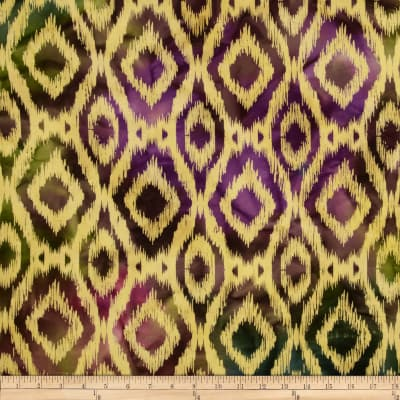 Textile Creations Batik Duck Diamond Ikat Aqua/Purple