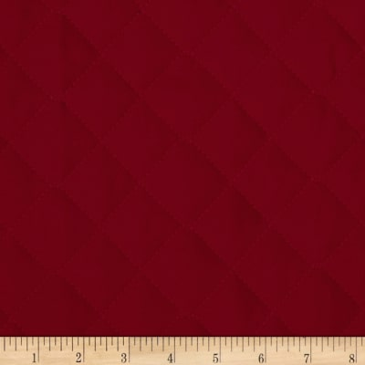 Double Sided Quilted Broadcloth Ming Red