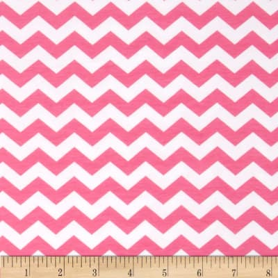 Riley Blake Cotton Jersey Knit Small Chevron Hot