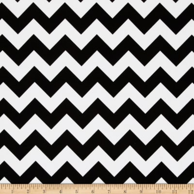 Riley Blake Cotton Jersey Knit Small Chevron Black