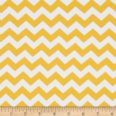 Riley Blake Knit Chevron Small Yellow