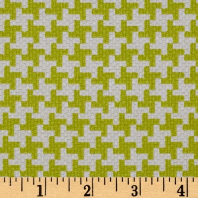 Michael Miller Textured Basics Vintage Houndstooth Lime