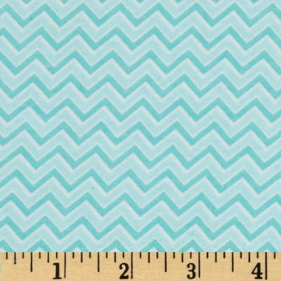 Alpine Flannel Basics Chevron Aqua