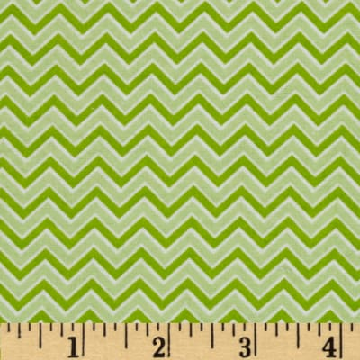 Alpine Flannel Basics Chevron Green