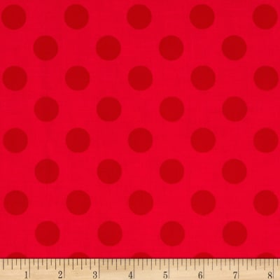 Riley Blake Medium Dots Tone on Tone Red