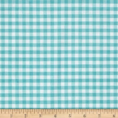 Riley Blake Basics Medium Gingham Aqua