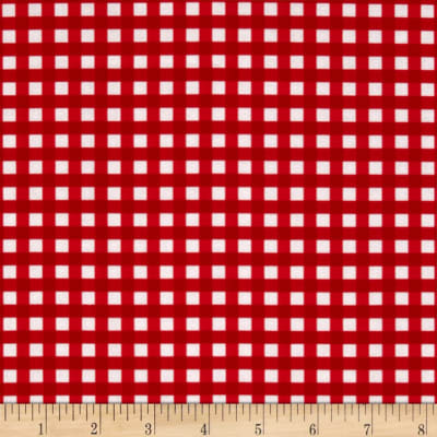 Riley Blake Basics Medium Gingham Red