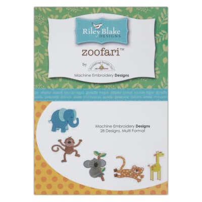 Riley Blake Zoofari Embroidery CD