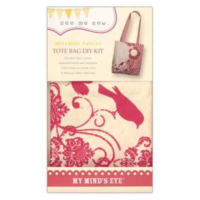 My Mind's Eye See Me Sew Tote Bag DIY Kit Pink