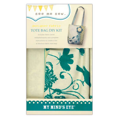 My Mind's Eye See Me Sew Ruffle Bag DIY Kit Blue