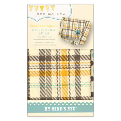 My Mind's Eye See Me Sew Messenger Bay DIY Kit Yellow