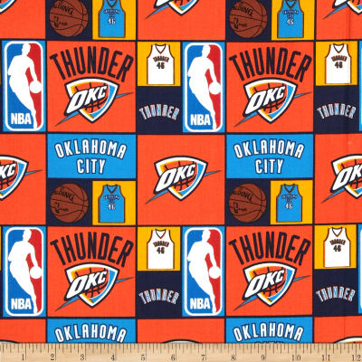 NBA Cotton Broadcloth Oklahoma City Thunder Multi