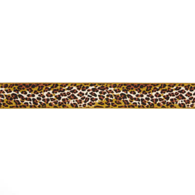 "1-1/2"" Anna Maria Horner Ombre Leopard Ribbon Brown/Gold"