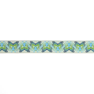 "1-1/2"" Tula Pink Octogarden Ribbon Blue"