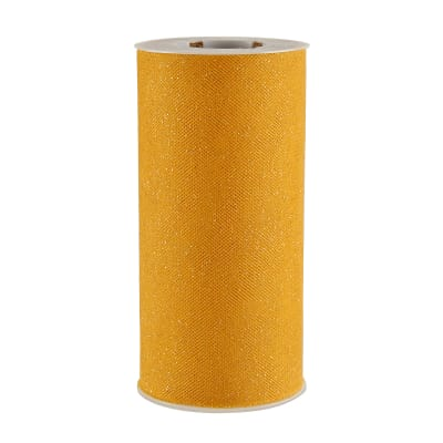Tulle Spool Stardust Glitter Yellow/Gold