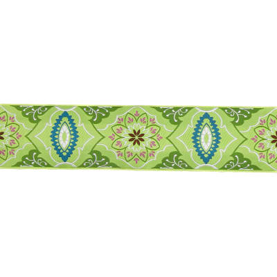 "2"" Amy Butler Brocade Ribbon Green/Olive"