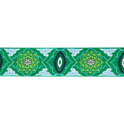 "2"" Amy Butler Brocade Ribbon Emerald/Blue"