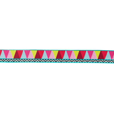 "7/8"" Amy Butler Mosaic Ribbon Yellow/Pink/Blue"