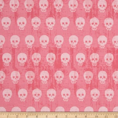 Riley Blake Geekly Chic Skulls Hot Pink