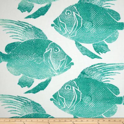 P Kaufmann Indoor/Outdoor Fish Turquoise