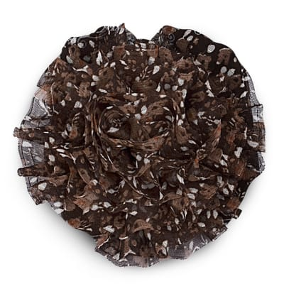 "3-1/4"" Large Prairie Flower Applique Brown"