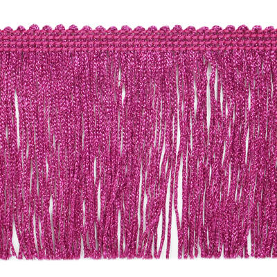 "4"" Metallic Chainette Fringe Trim Fuchsia"
