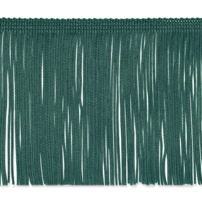"4"" Chainette Fringe Trim Teal"