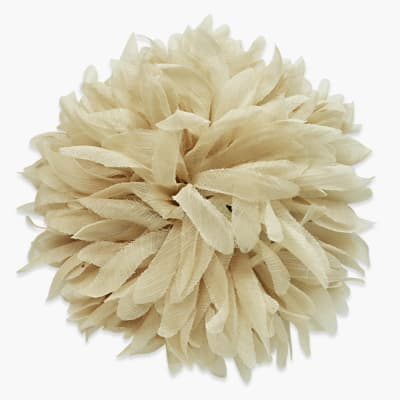"6"" Brooch And Hairclip Fluffy Dahlia Beige"