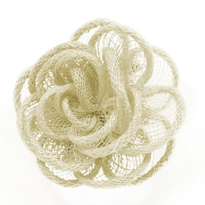 "3"" Brooch And Hairclip Abaca Impatiens Natural"