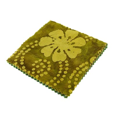 "Indian Batiks Assorted 5"" Charm Pack Lime/Olive/Green"