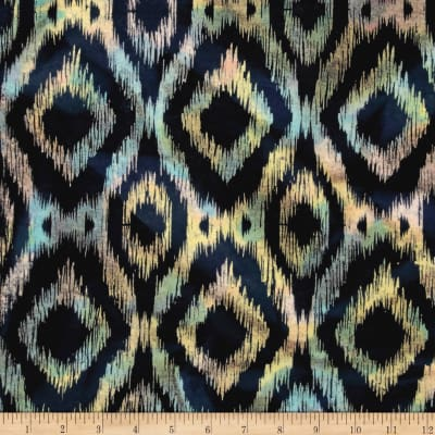 Printed Indian Batik Flannel Ikat Multi