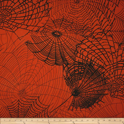 Kanvas Spooktacular Spider Web Orange