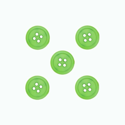 Dill Buttons 9/16'' Polyamid Button Green