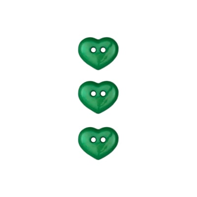 Dill Novelty Button 5/8'' Heart Green