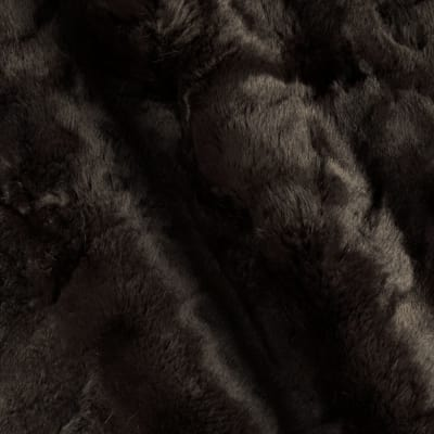 Luxury Faux Fur Texture Dark Brown